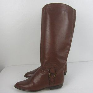 Vtg Bootalinos Chestnut Leather Riding Boots 9M
